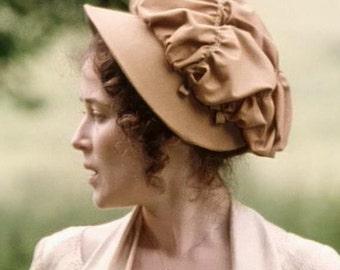 Regency Bonnet/Cap. Jane Austen. BBC Lizzy Bennet. MADE to ORDER