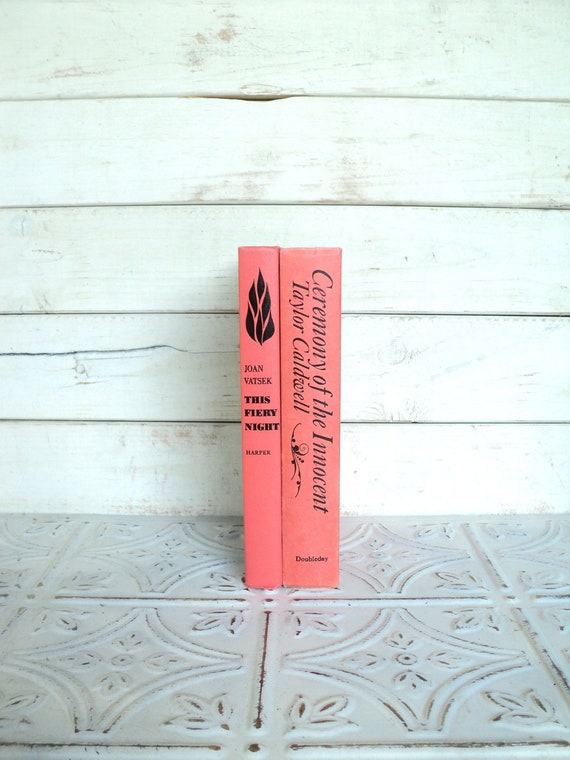 Coral, Black Books Instant Library Collection Decorative Books Photography Props Salmon