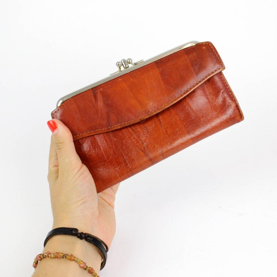 rust leather wallet Rolfs