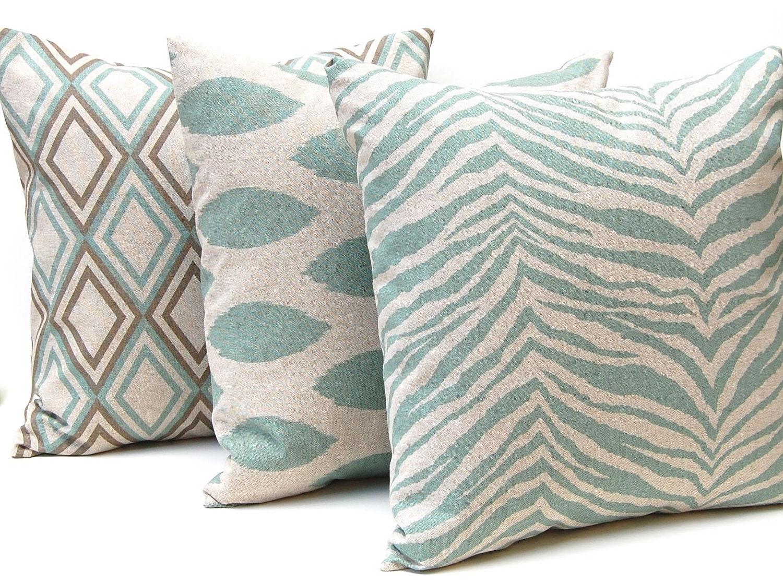 Seafoam Blue Decorative Pillows : sea foam sofa on Pinterest House Of Turquoise, Maine Cottage and Interiors