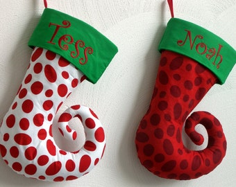 Whimsical Personalized Dr. Seuss Christmas Stocking