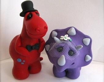 Dino  Keepsake Wedding Cake Topper