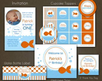 Fish Birthday Party Package Printable