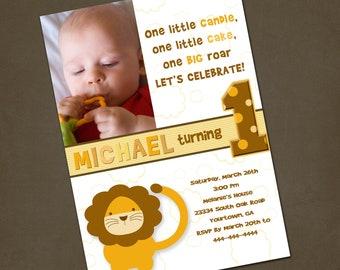 Little Lion Birthday Invitation You Print