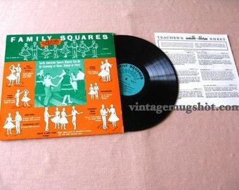 FAMILY SQUARES  Private LP  Vinyl  Record Square Dance Album Exc Nm Instruction