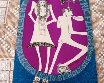 Fillmore BG 117 60'S Original CONCERT POSTER Electric Flag Albert King Blues Original 1st Mari Tepper
