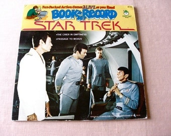 STAR TREK  Vinyl lp Record Book and Record Set Record Peter Pan Records