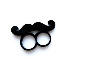ON SALE - mustache on a ring