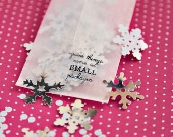 Metallic Confettis - Snow Crystals