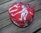 BRAVO Canada Reversible Black Faux Fur Print Hat ...... Size 6
