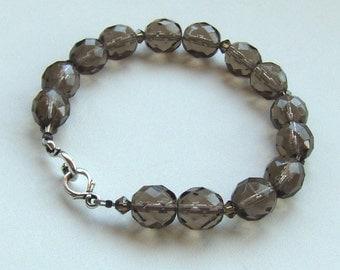 Czech Glass Bead and Swarovski Crystal Bracelet