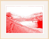 "St Kilda A3 Print ""Village Bay in Red"""