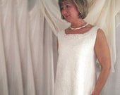 White Felted Wedding Dress