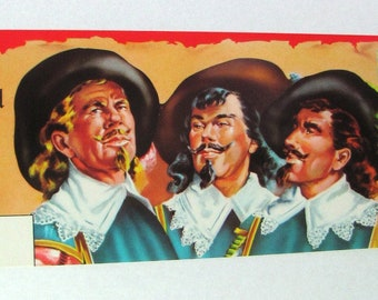 1950s Scarce Three Musketeers Spanish Los Tres Mosqueteros Fruit Crate Label