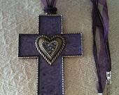 Big Purple Cross Necklace
