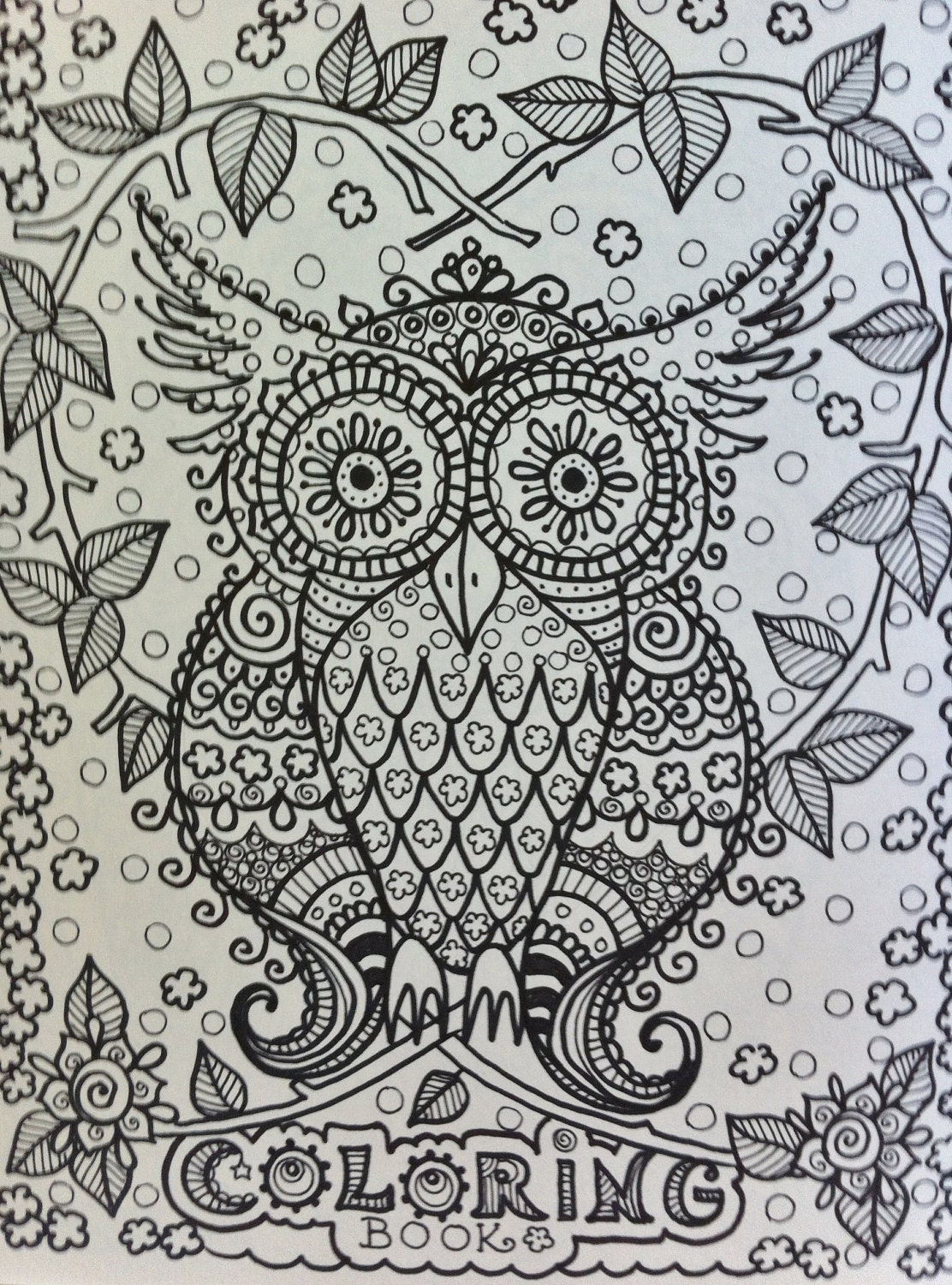 Intricate Owl Coloring Pages