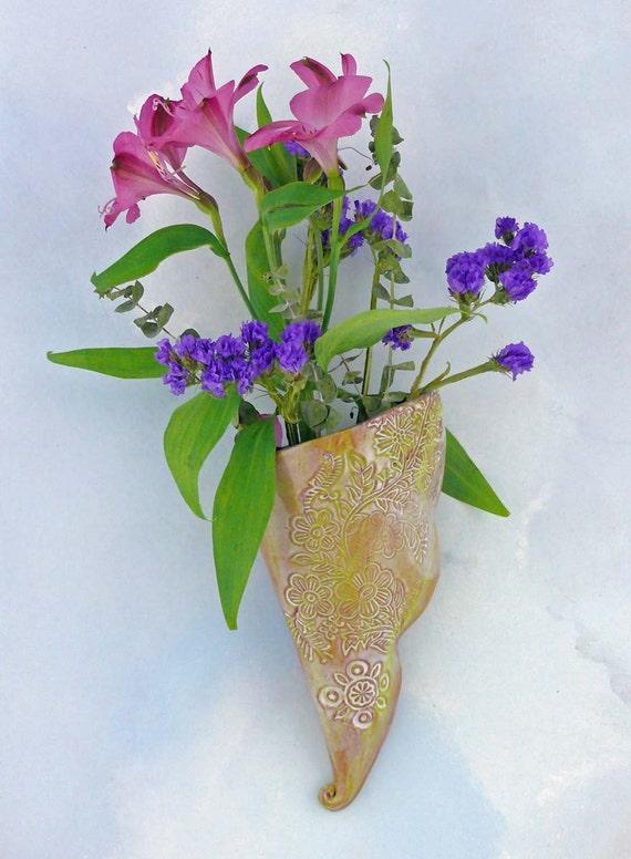Ceramic Vase  Wall Hanging Pottery  Handmade  Decorative. Ceramic Vase Wall Hanging Pottery Handmade Decorative