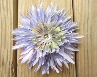 Light purple DAHILA  flower hair clip