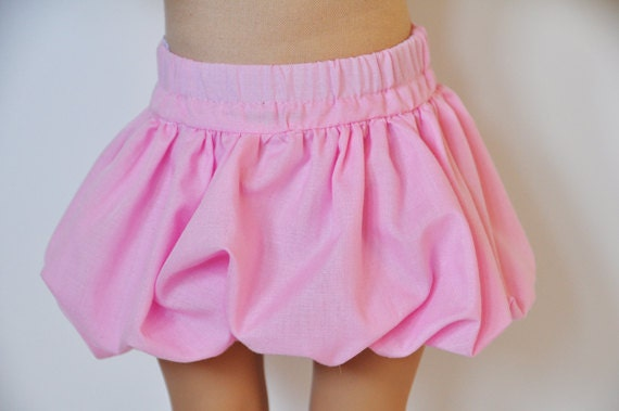 American Girl Clothes - Cotton Pink Bubble Skirt