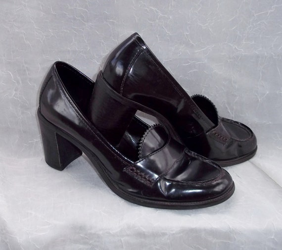 Clearance Sale -  Vintage Franco Sarto Brown Leather Shoes -  US Size 8M - Excellent Condition