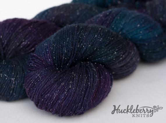 Silk & Silver handpainted fingering yarn, 3.5 oz: TERRITORY