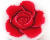 Polymer clay cane RED ROSE