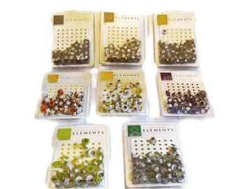 """SET 2 Lot of 8 Round Medium Eyelet Pack from American Crafts 3/16"""""""