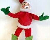 vintage Santa doll Annalee mobilitee handmade hand painted poseable Christmas figure