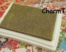 Stamp Ink Pad Oil Based waterproof for wood, fabric and paper - Gold