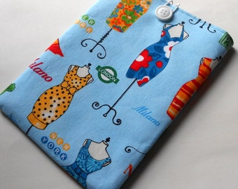 Kindle cover/Kindle sleeve/Nook sleeve/e-reader cover - Dresses
