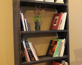 "30"" bookshelf / rustic bookcase"