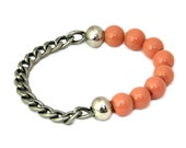 Fall Colors - Peach Bracelet - Romantic Jewelry - Chanel-Inspired - Handmade with Love - Daytime Jewelry