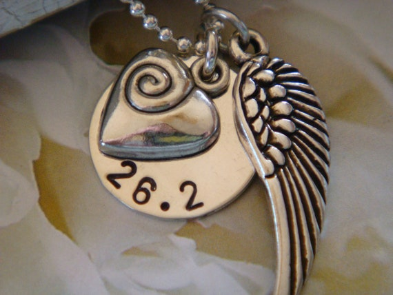 26.2 Marathon Sterling Silver Necklace - Wind Beneath My Wings