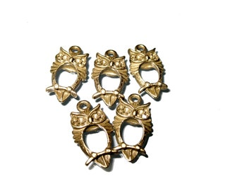 Owl Charms X 20 pcs in Antique Bronze 23.5mm x 13mm