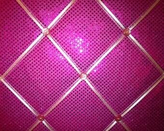 Pink Sequin Glitter Allover Photo Memory Board