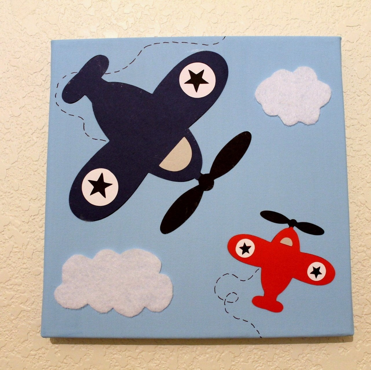 Wall decor airplane baby nursery kids children room decor for 007 room decor