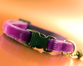 Royal Purple Breakaway Cat Collar with Crown Charm