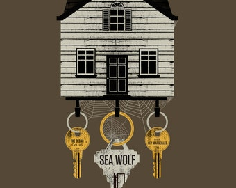 Sea Wolf screen printed gig poster