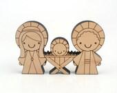 Wooden Christmas Nativity: Kids Wood Nativity Block