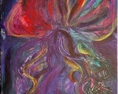 Acrylic  Mantaray Colorful Painting