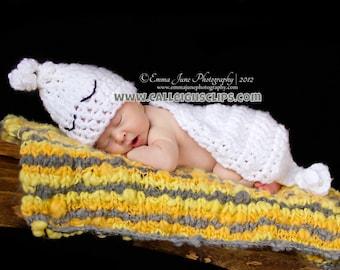 Instant Download Crochet Pattern - No 37 Sweet Spooky Ghost- Cuddle Cape Set  -