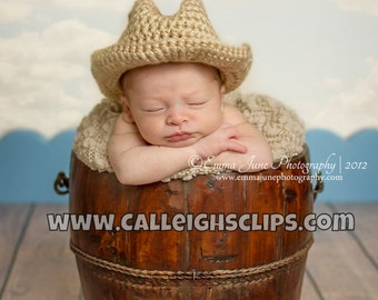 Cowboy hat prop - 0-3 mo & -3-6 mo - Variety of color choices