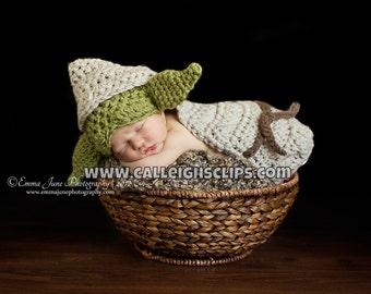 Instant Download Crochet Pattern- No. 79 Wise Alien or Goblin- Newborn photography prop