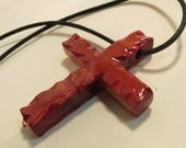The Old Rugged Cross Cedar Necklace