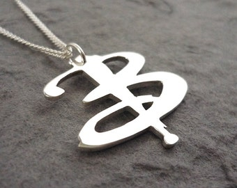 Sterling silver Handmade B-uffy pendant
