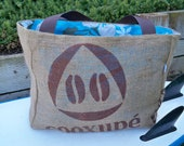 Authentic Coffee Bean Eco-Friendly Market Tote Bag, Handmade from a Recycled Coffee Sack