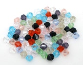 1000 pcs Multicolored Crystal Quartz Faceted Bicone Beads - 4mm