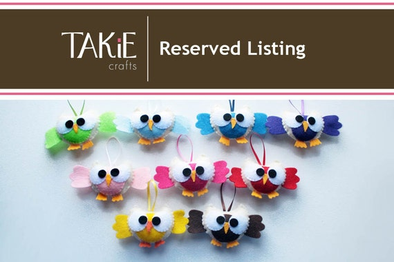 RESERVED 60 Owls for Stephanie
