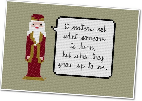 Dumbledore - The *Original* Pixel People Quoteables - PDF Cross-stitch Pattern - INSTANT DOWNLOAD