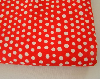 Red White Polka Dot Fabric, Mingle by Monaluna Fabric, Summer Dot Fabric, FQ